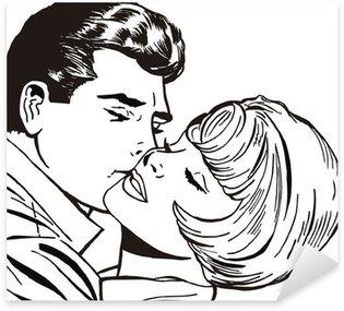Pixerstick para Todas las Superficies Ilustracion de una pareja de enamorados