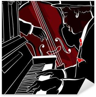 Pixerstick para Todas las Superficies Ilustración vectorial de un piano de Jazz y contrabajo