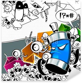 Pixerstick para Todas las Superficies Imagen de graffiti extraño con lata