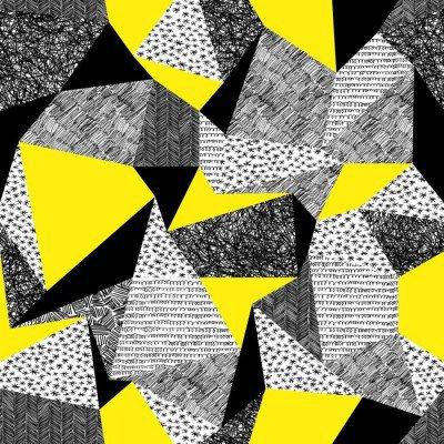 Pixerstick para Todas las Superficies Inconsútil geométrico del modelo en estilo retro. background.Tr la vendimia