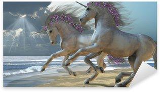 Vinilo Pixerstick Jugar Unicorns Parte 2