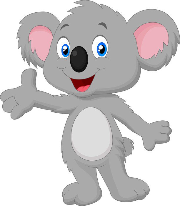 Vinilo Pixerstick Koala lindo posando de dibujos animados  Pixers