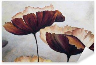 Vinilo Pixerstick La pintura abstracta de la amapola