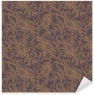 Vinilo Pixerstick La tela de Paisley sin fisuras patrón de Oriente