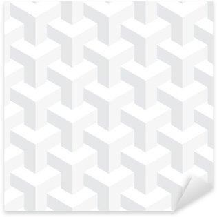 Vinilo Pixerstick La textura del vector irreal, diseño abstracto, construcción ilusión, fondo blanco