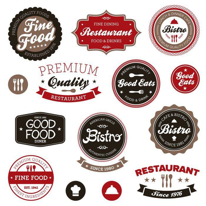 Pixerstick para Todas las Superficies Las etiquetas del vintage del restaurante - Señales y símbolos
