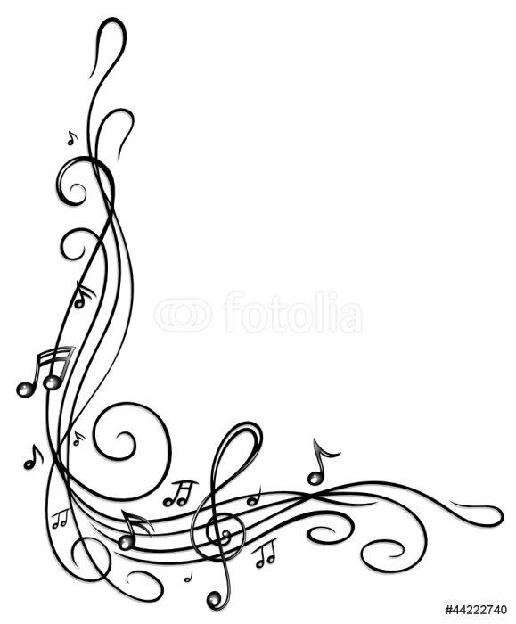 Pixerstick para Todas las Superficies Las notas, claves, notas musicales, música, marco - Música