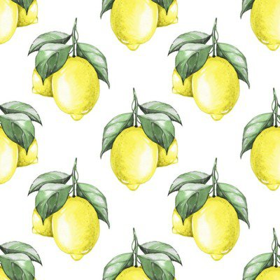 Pixerstick para Todas las Superficies Limones. Modelo inconsútil de la acuarela 1