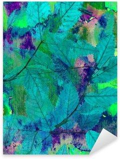 Vinilo Pixerstick Los grandes fondos brillantes. Las pinturas de mezcla y la naturaleza