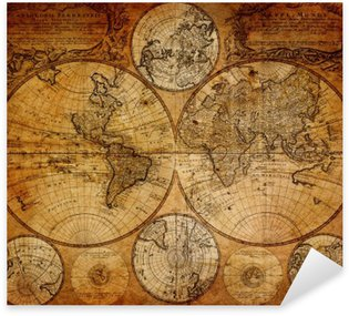Vinilo Pixerstick Mapa antiguo (1746)