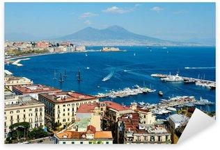 Pixerstick para Todas las Superficies Maravillosa vista panorámica de Nápoles, con el Vesubio