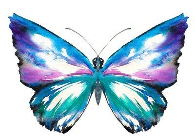 Pixerstick para Todas las Superficies Mariposa de la acuarela pintada.