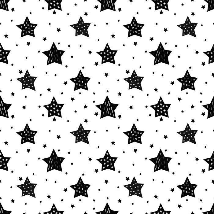 Vinilo Pixerstick Modelo blanco y negro sin fisuras con las