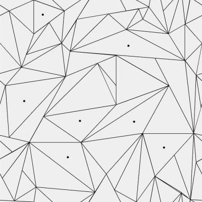 Pixerstick para Todas las Superficies Modelo geométrico blanco y negro simple minimalista, triángulos o vidriera. Se puede utilizar como fondo de pantalla, fondo o la textura.