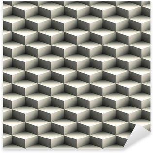 Vinilo Pixerstick Modelo geométrico inconsútil hecha de cubos apilados