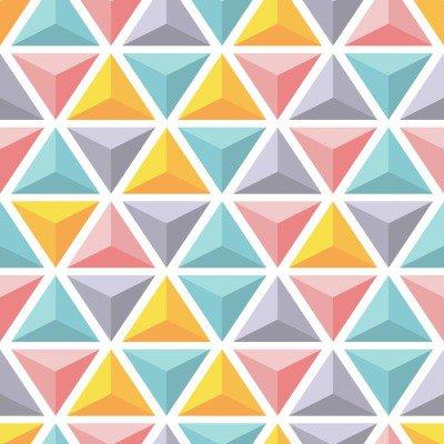 Pixerstick para Todas las Superficies Modelo inconsútil del vector con las pirámides triangulares de colores.