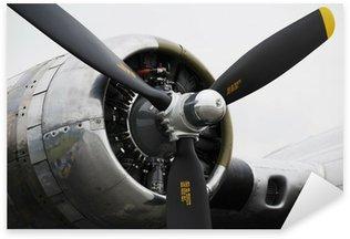 Vinilo Pixerstick Motor de avión bombardero