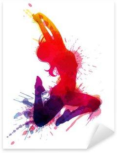 Pixerstick para Todas las Superficies Muchacha de baile con toques grunge