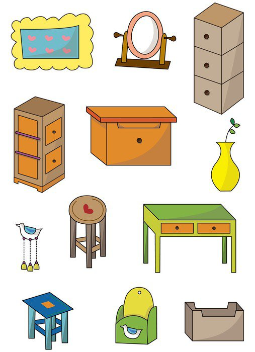 Vinilo pixerstick muebles de dibujos animados icon for Casa de diseno traduccion ingles