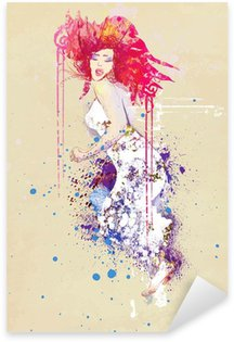 Pixerstick para Todas las Superficies Mujer en vestido de verano (dibujo)