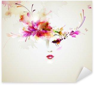 Pixerstick para Todas las Superficies Mujeres hermosas de moda con elementos de diseño abstracto