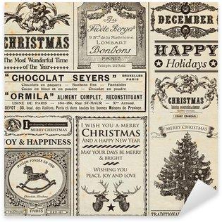 Pixerstick para Todas las Superficies Navidad periódico