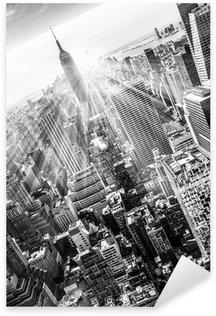 Pixerstick para Todas las Superficies New York City Manhattan skyline in sunset.