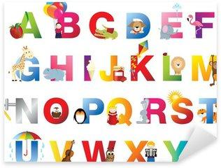 Vinilo Pixerstick Niños alfabeto completo