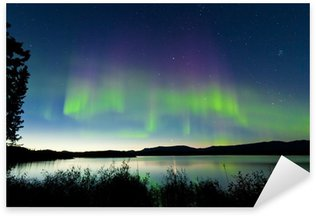Pixerstick para Todas las Superficies Noche de verano aurora boreal sobre el lago Laberge