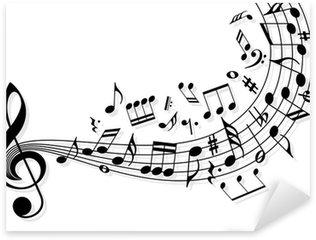 Vinilo Pixerstick Notas de la música