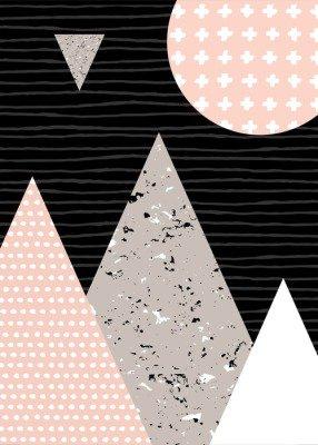 Pixerstick para Todas las Superficies Paisaje abstracto geométrico