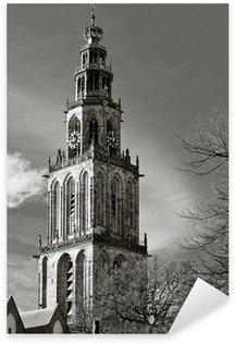Pixerstick para Todas las Superficies Paisaje urbano de Groninga con la torre Martini