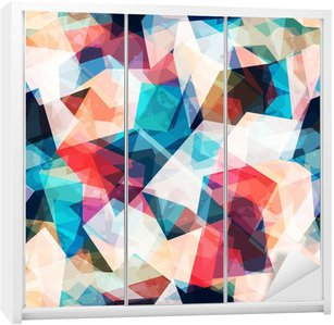Vinilo para Armario Color transparente patrón de mosaico con efectos grunge