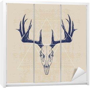 Vinilo para Armario deer skull