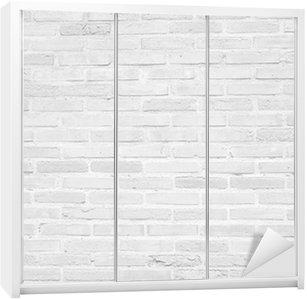 Vinilo para Armario Grunge pared de ladrillo blanco textura de fondo