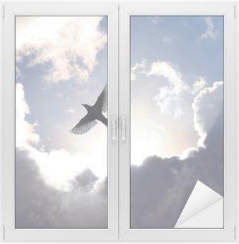 Vinilo para Cristal y Ventana Ángel del pájaro en el cielo