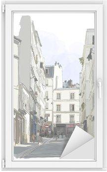 Vinilo para Cristal y Ventana Calle cerca de Montmartre en París