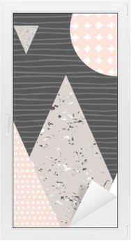 Vinilo para Cristal y Ventana Paisaje abstracto geométrico