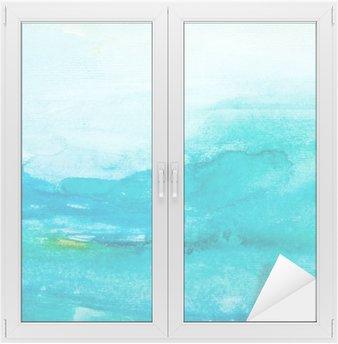 Vinilo para Cristal y Ventana Trazos de color acuarela, arte, pintura
