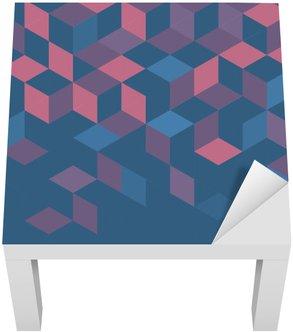 Vinilo para Mesa Lack Plantilla de colorido moderno geométrico retro abstracto para la presentación de negocios o de la tecnología y el espacio para el texto o el objeto, ilustración vectorial