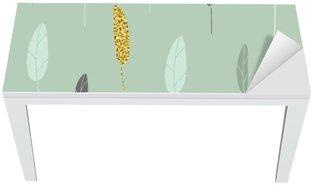Vinilo para Mesa y Escritorio Leaf patrón