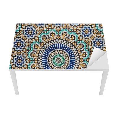 Vinilo para Mesa y Escritorio Marroquí de fondo de azulejos de época