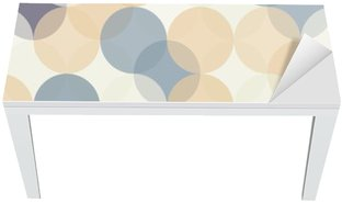 Vinilo para Mesa y Escritorio Modernos del vector círculos patrón de colores sin fisuras geometría, el color de fondo abstracto geométrico, impresión del papel pintado, textura retro, diseño de moda del inconformista, __
