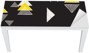 Vinilo para Mesa y Escritorio Sin costuras a mano patrón de triángulos.