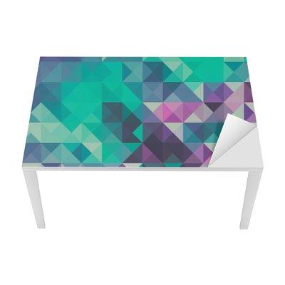 Vinilo para Mesa y Escritorio Triángulo de fondo, verde y violeta