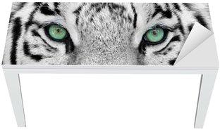 Vinilo para Mesa y Escritorio White tiger