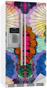 Vinilo para Nevera Acuarela elementos abstractos multicolores
