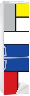 Vinilo para Nevera Mondrian arte de inspiración