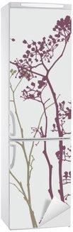 Vinilo para Nevera Pájaro en flores del prado