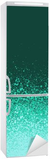 Vinilo para Nevera Spray de graffiti pintado de verde menta fondo azul degradado